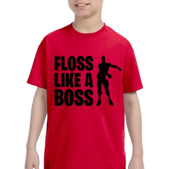 4cb2bbb16 Gildan Shirts & Tops | Fortnite Kids Floss Like A Boss T Shirt S M L ...